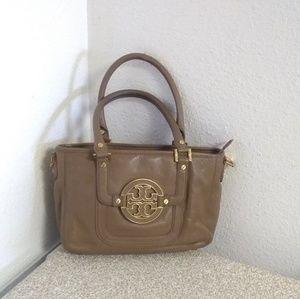 Tory Burch Amanda Tan Pebbled Leather Bag